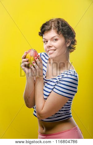Girl with mango