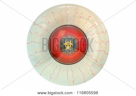 Human Eye With Biohazard Symbol