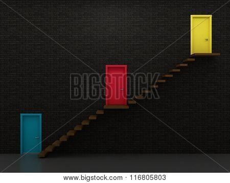 Three Doors And Stairs 3