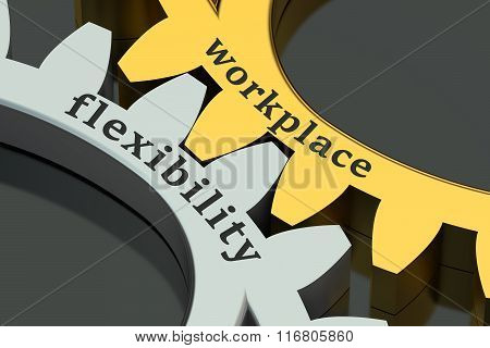 Workplace flexibility Concept On The Gearwheels