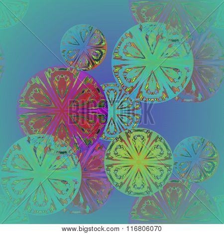 Seamless circle pattern multicolored