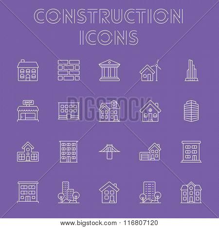 Construction icon set.