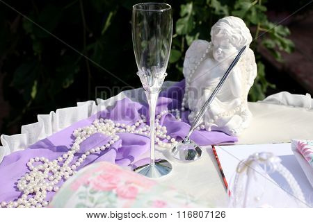 Set Of Wedding Accessories For The Wedding Ceremony