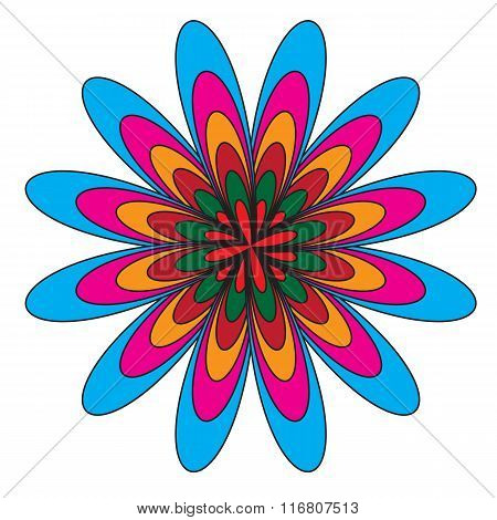 Spirograph Abstract Vector Art