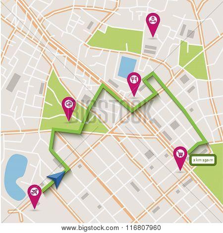 Vector city map navigation