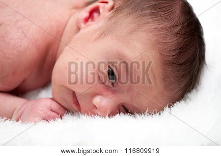 Newborn baby in first week of his life