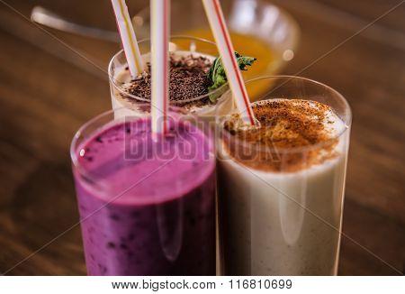 Delicious milkshake nutritious protein for breakfast