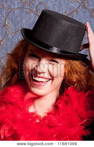 charming   woman in a hat