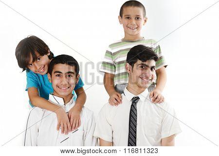 Arabic kids group portrait