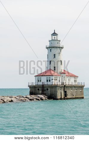 Old lighthouse near downtown Chicago