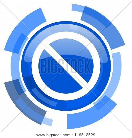 access denied blue glossy circle modern web icon