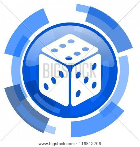 game blue glossy circle modern web icon