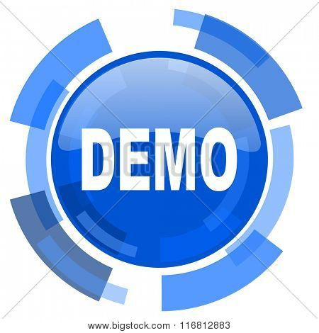 demo blue glossy circle modern web icon