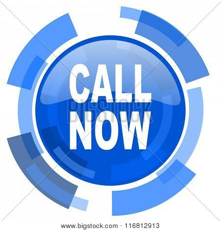 call now blue glossy circle modern web icon