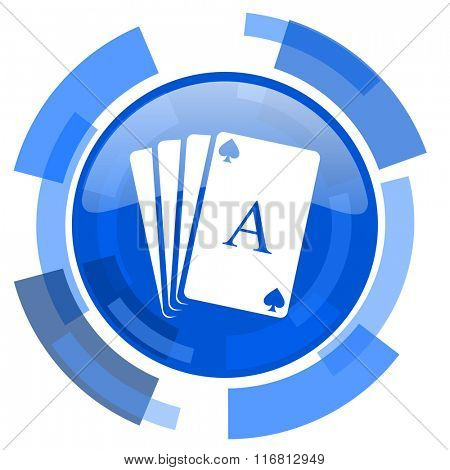 card blue glossy circle modern web icon