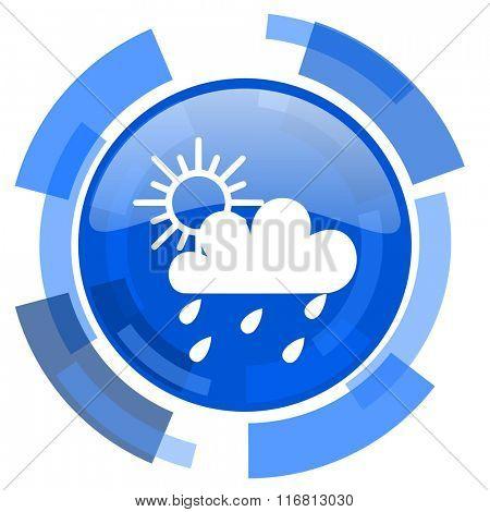 rain blue glossy circle modern web icon