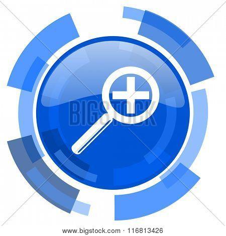 lens blue glossy circle modern web icon