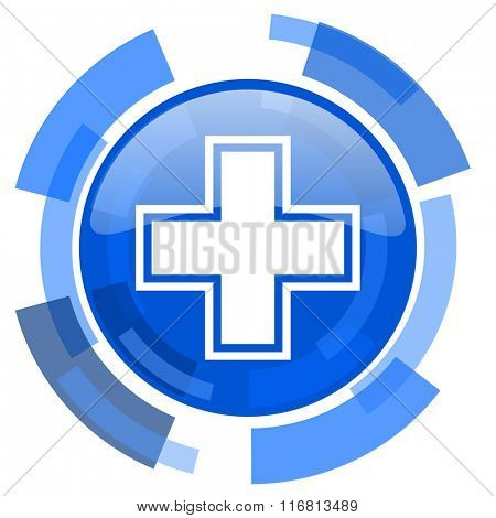 pharmacy blue glossy circle modern web icon
