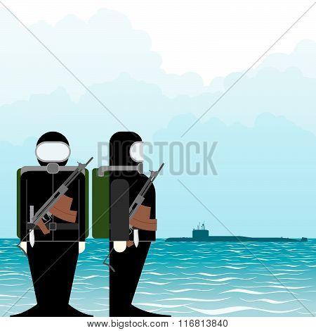 Saboteur submarine