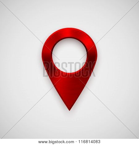 Red Technology Gps Map Pointer