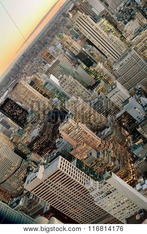 Aerial View Of The New York City.