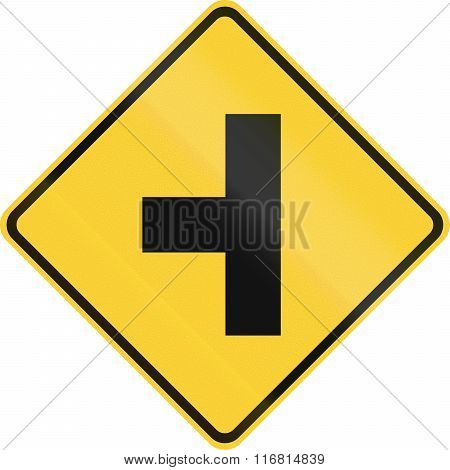 United States Mutcd Warning Road Sign - T-intersection