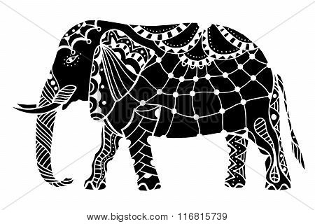 Black Indian Elephant.