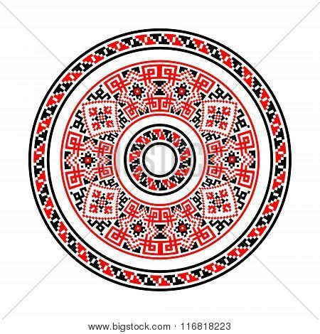 Ethnic motives. Circular pattern in traditional style.