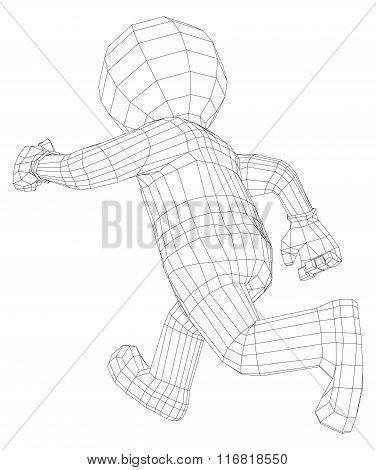 Puppet 3d man running
