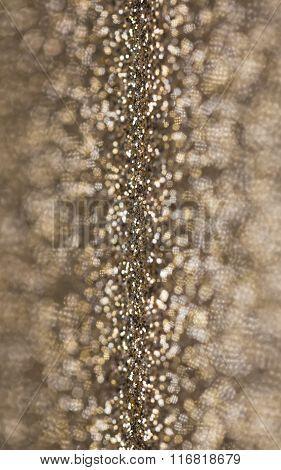 Gold Glitter Selective Focus Background