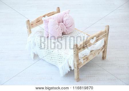 Small Bed For Newborn Baby In Studio