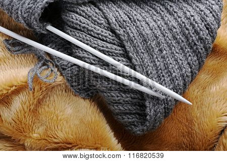 Knitting Scarf With Needles