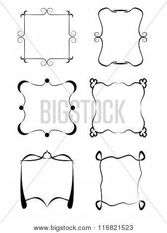 Set of frames isolated on white background.