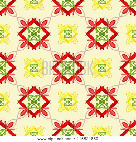 Seamless floral pattern.Vector illustration.