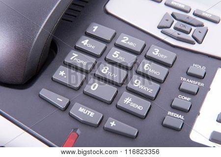 Alphanumeric Keyboard Of A Landline