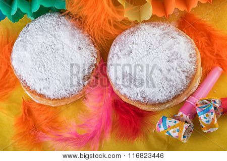 Sweet Doughnut Donuts with Carnival Decoration