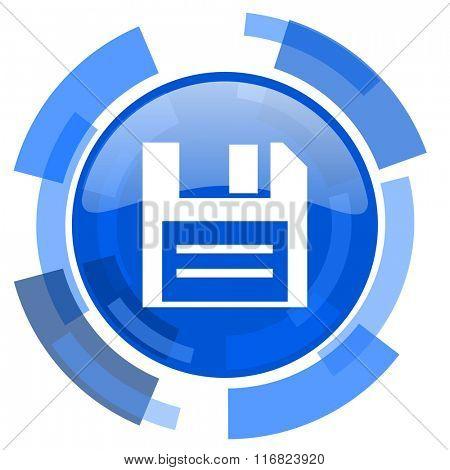 disk blue glossy circle modern web icon