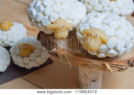 Easter Cupcakes Or Marshmallow Sheeps