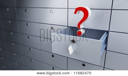 Opened Empty Bank Cel Question Mark