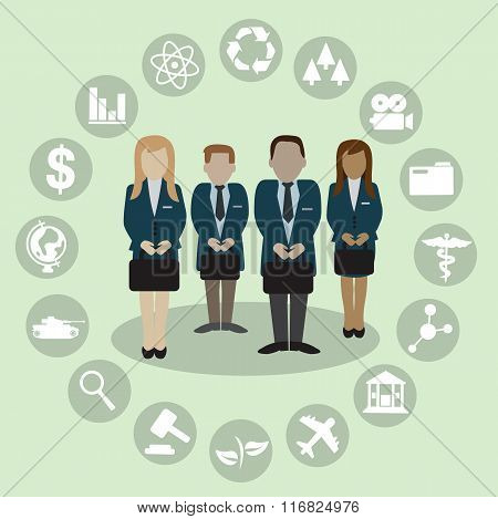 Human Resources With Professional Occupation