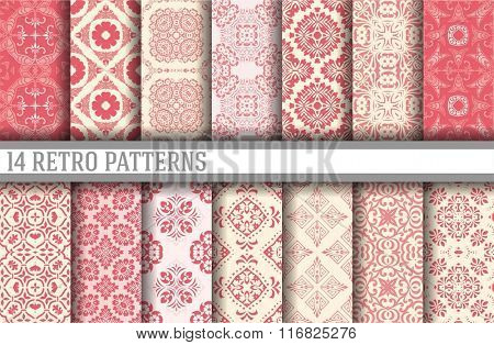14 Seamless Patterns Background Collection - vector