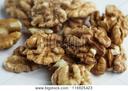 Kernel of a Walnut on The Table