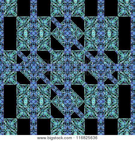 Check Modern Baroque Seamless Pattern