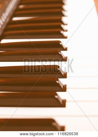 Music Keyboard Vintage