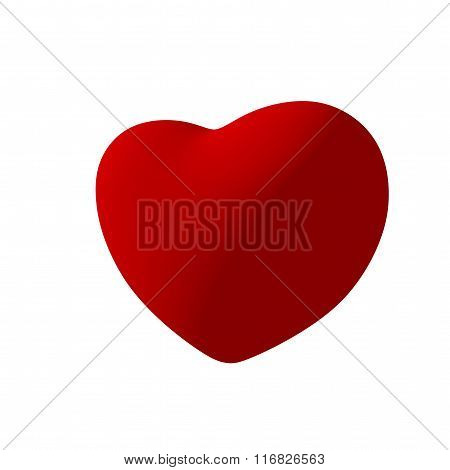 Red Heart On White