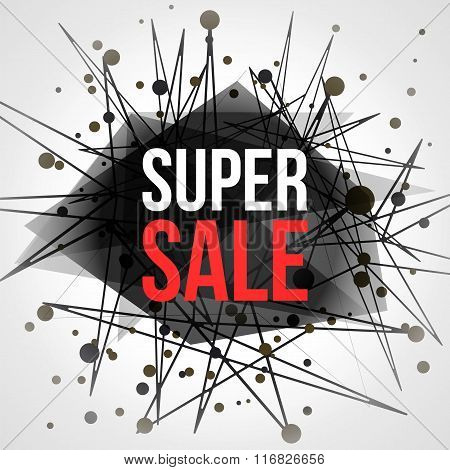 Super Sale Abstract Vector Banner