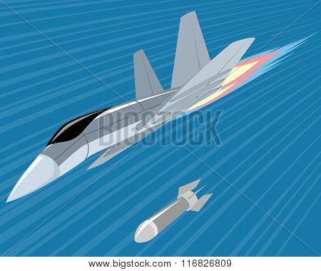 Bomber Lobbing Rockets