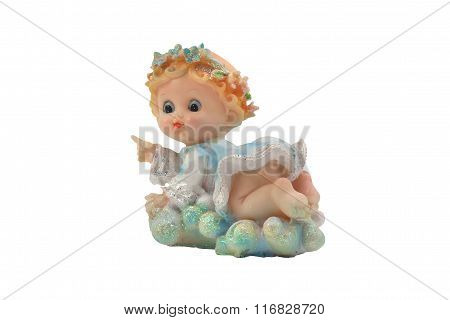 Isolated baby angel toy photo
