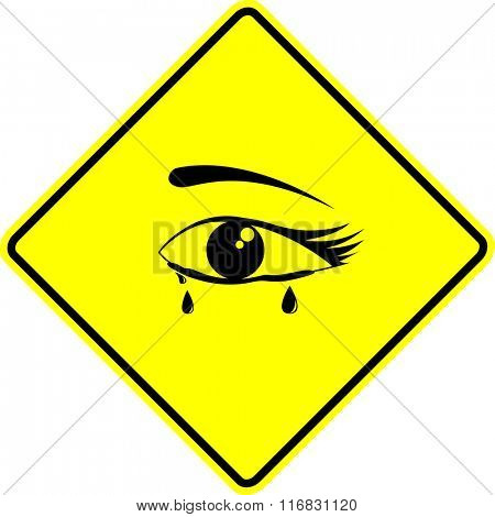crying eye sign