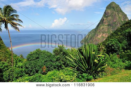 Rainbow Between Pitons